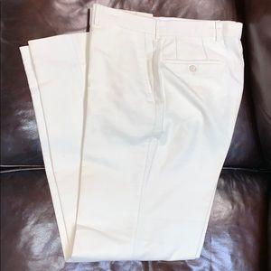 Hugo Boss white brushed cotton dress  trousers 36